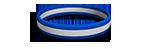 White and Blue Silicone Wristband