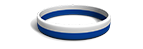 White and Blue Striped Silicone Wristband