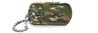 Camo Medical Alert Dog Tag
