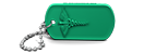 Green Medical Alert Dog Tag