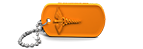 Orange Medical Alert Dog Tag