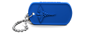 Royal Blue Medical Alert Dog Tag