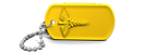 Yellow Medical Alert Dog Tag