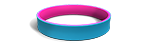 Aqua and Hot Pink Wristbands