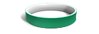 Green and White Silicone Wristbands
