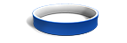 White and Blue Silicone Wristbands