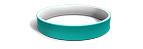 White and Teal Silicone Wristbands