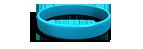 Aqua Silicone Wristband