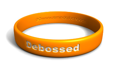 Classic Silicone Wristband with White Color-Fill