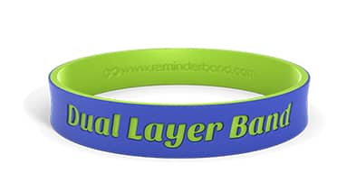 Dual-Layer Silicone Wristband
