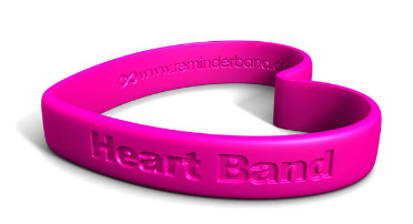 Heart Silicone Wristband