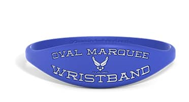 Marquee Oval Silicone Wristband