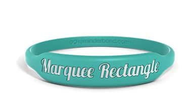 Marquee Rectangle Silicone Wristband