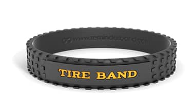 Tire Textured Silicone Wristband