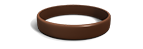 Brown Silicone Wristband