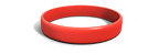 Candy Apple Red Silicone Wristband