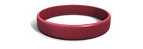 Cardinal Red Silicone Wristband