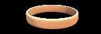 Peach Silicone Wristband