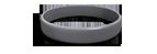 Gun Metal Gray Silicone Wristband