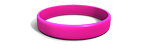 Hot Pink Silicone Wristband