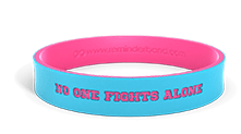 No One Fights Alone Cancer Wristband