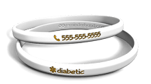 White Diabetic Wristband