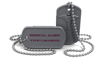 Diabetic Medical Necklace