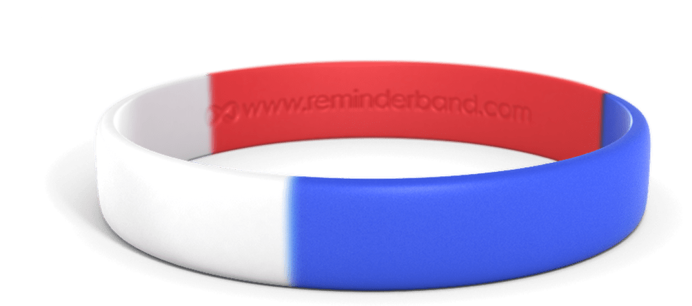 Classic Red White & Blue Wristband