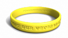 support our veterans bracelet - Support Our Troops Silicone Bracelet