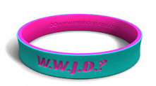 WWJD Dual Layer Teal Bracelet