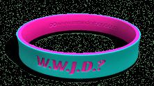 WWJD Dual Layer Teal Bracelet