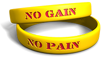 No Pain No Gain Wristband