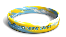 High School Swim Team Wristband