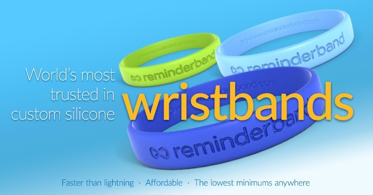 World's most trusted in custom silicone wristbands