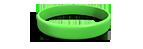 Neon Green Silicone Wristband