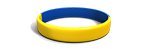 Segmented Yellow Blue Silicone Wristband