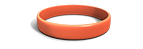 Stunned Orange Silicone Wristband